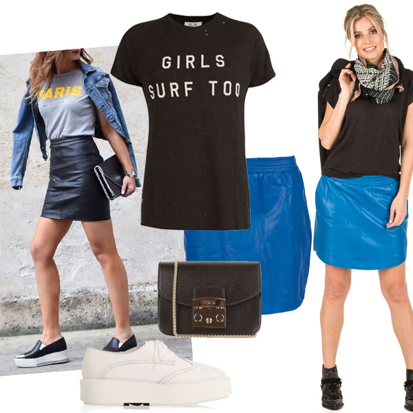 Bedwelming How to wear: Hoe combineer je de leren rok? - Little Soho &MS65