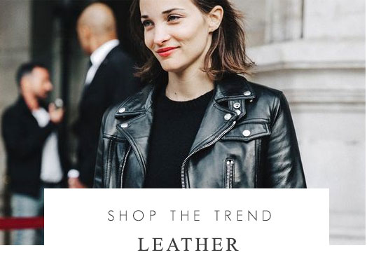 Shop the trend - Leather