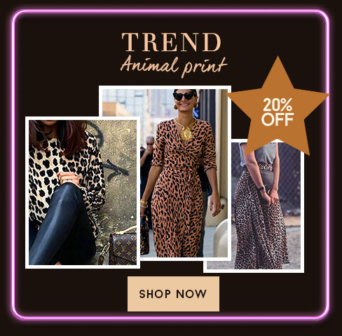 20% off - Animal print - Shop Now