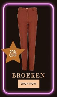 20% op broeken
