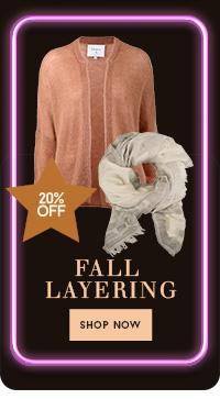 20% off fall layering