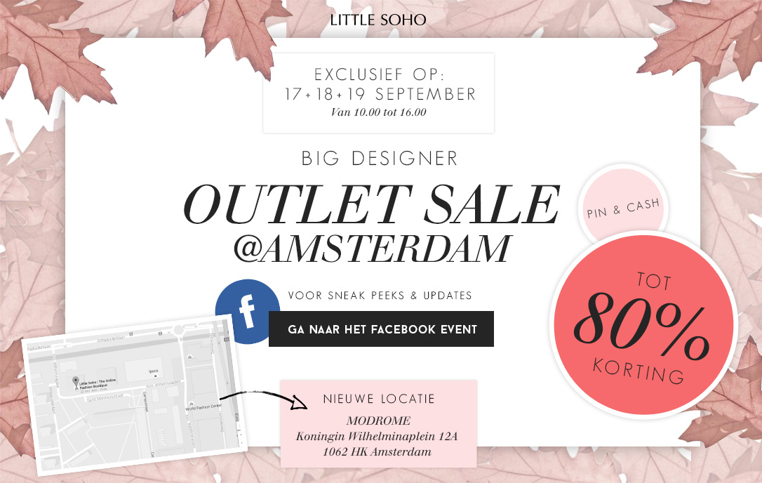 Big designers outlet Sale - Amsterdam - Tot 80% korting