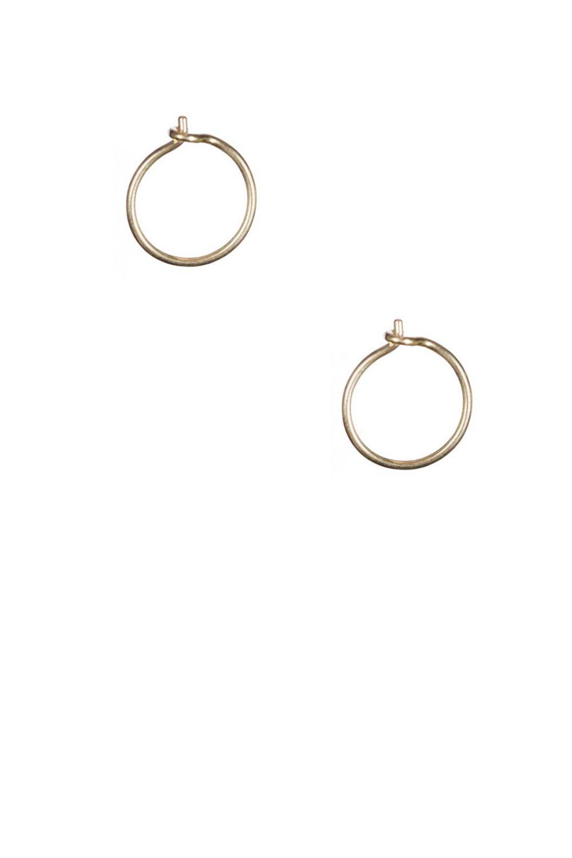 kleine gouden ringetjes oorbellen