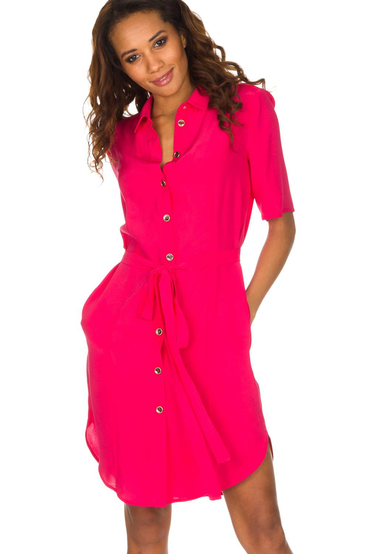 knalroze jurk