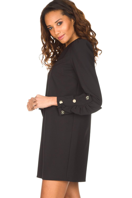 Vaak Chique jurk Vitalia   zwart   ELISABETTA FRANCHI   Little Soho #WO52