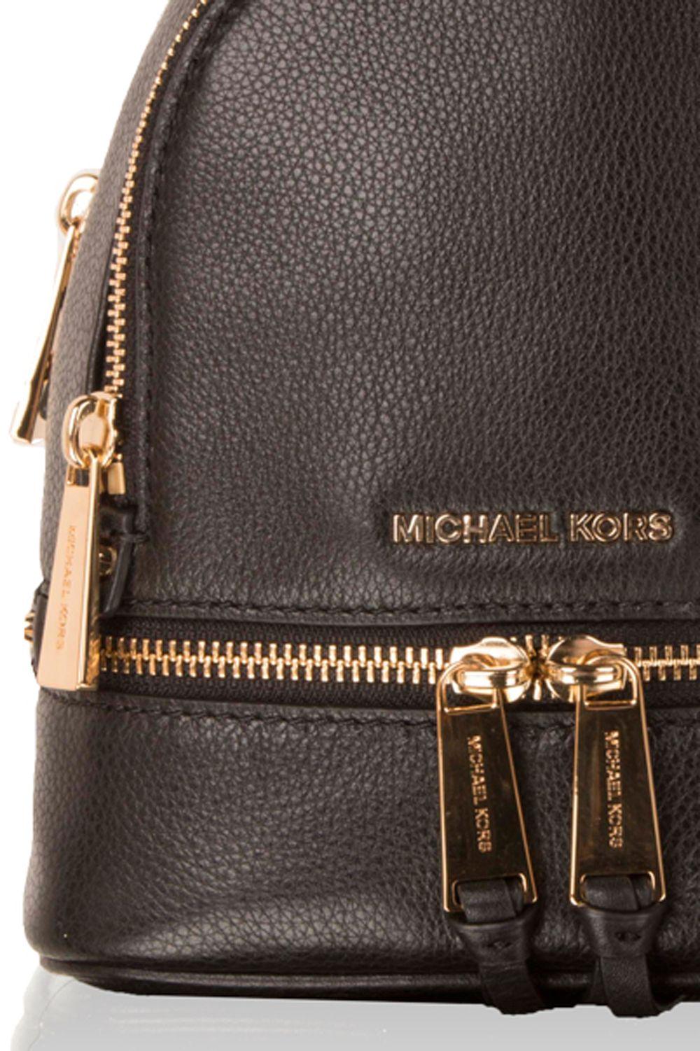 91d24f4196b ... MICHAEL Michael Kors | Leren Mini rugzak Rhea Zip | zwart | Afbeelding 5