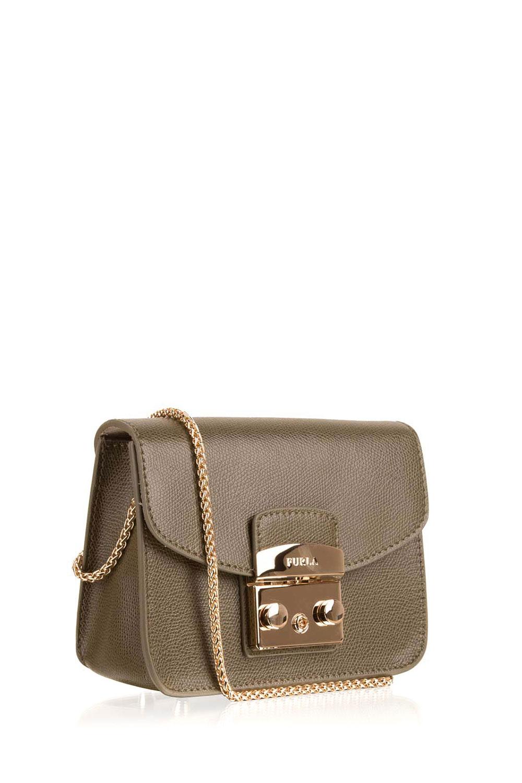 leather shoulder bag metropolis mini green furla little soho. Black Bedroom Furniture Sets. Home Design Ideas