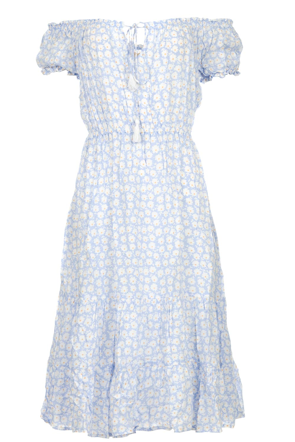 9ce1136fcf Dress with floral print Harper | blue... | BEACHGOLD | Little Soho