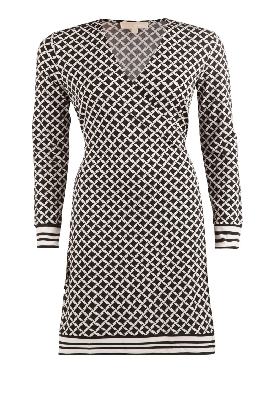 bf34fcd7652 MICHAEL Michael Kors   Wrap dress Bermont   black & white   Picture ...