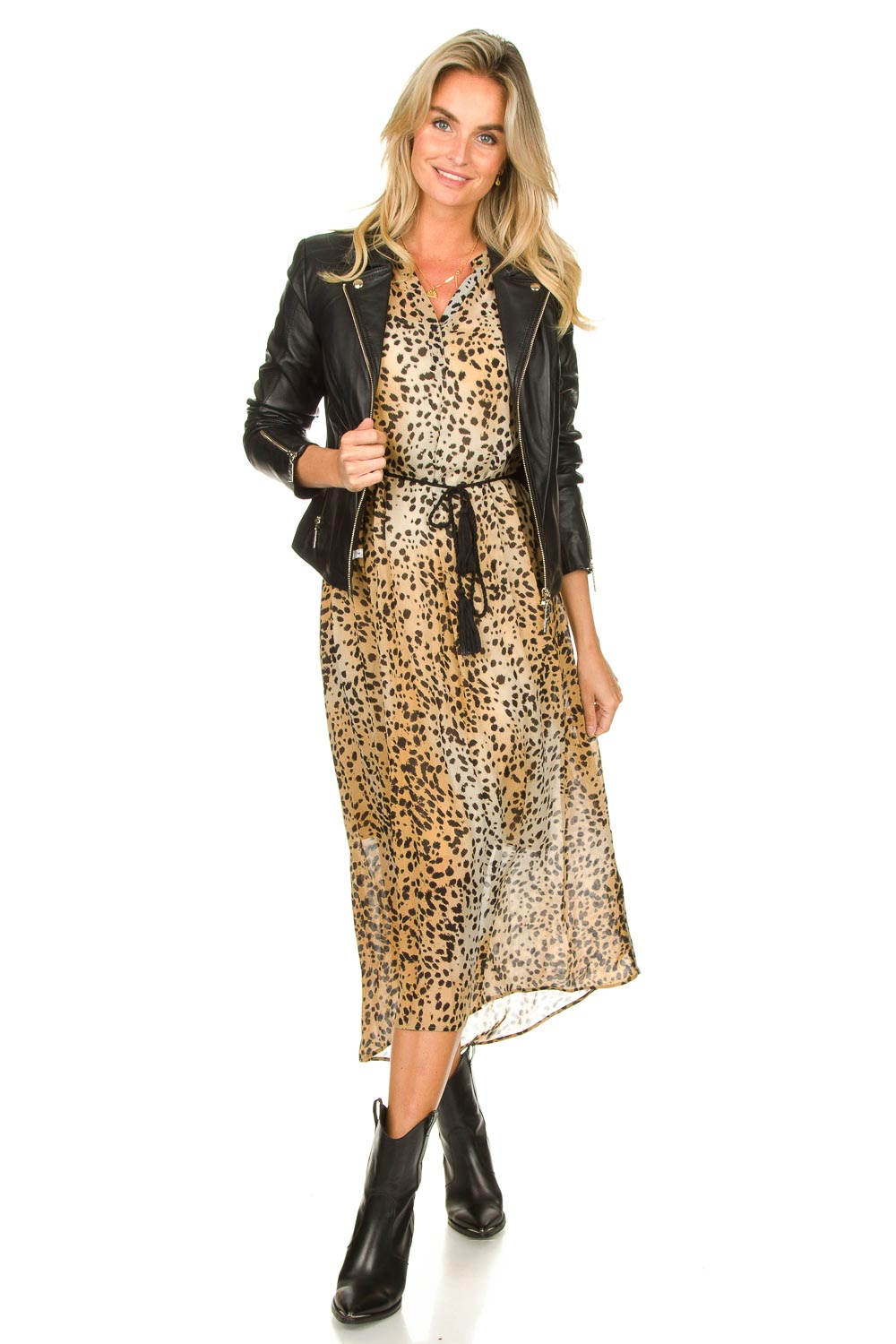 Look Animal print maxi dress Aurora