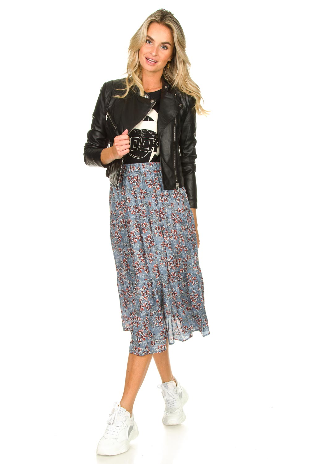 Look Maxi skirt with floral print Morning