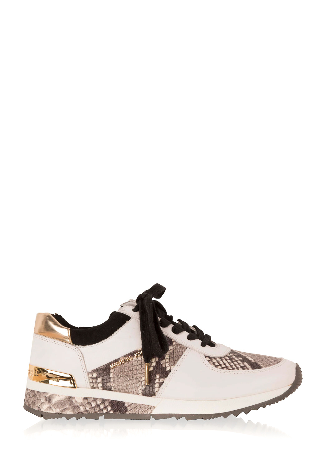3fe9647290d MICHAEL Michael Kors | Leather sneakers Trainer Allie Wrap | white with  animal print | Picture ...