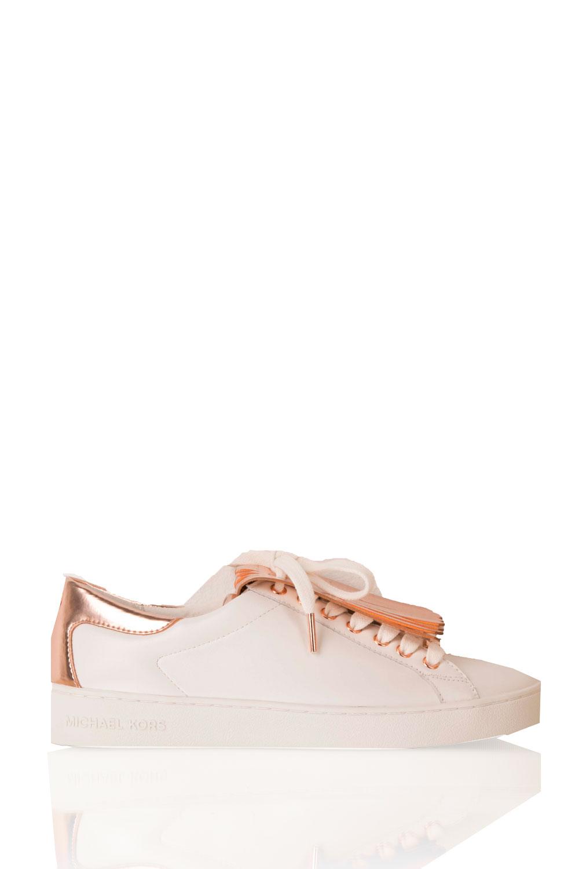 348f216c37b MICHAEL Michael Kors | Leren sneakers Keaton Kiltie | wit | Afbeelding ...
