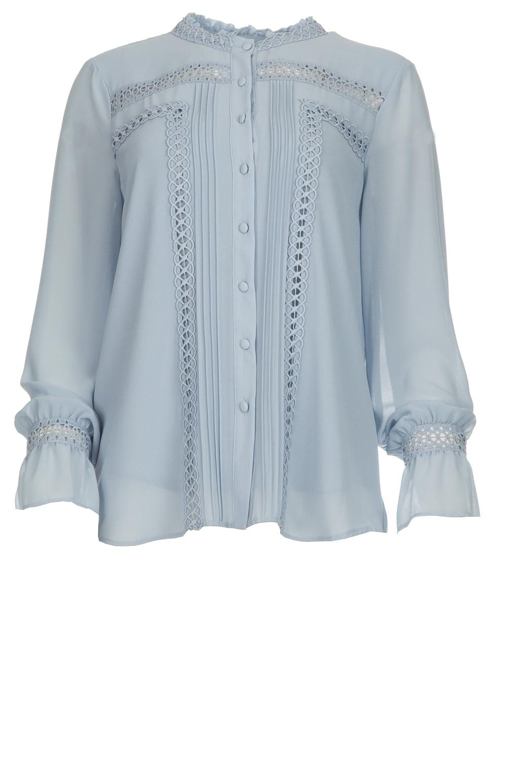 best loved e4730 87d99 Blouse with cut-out embroideries Sulawesi | blue