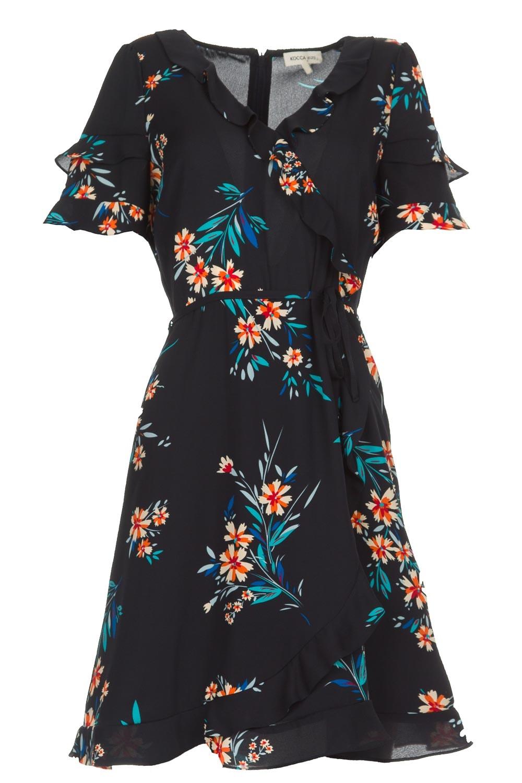 dea430545cb Wrap dress with florals Accro | black... | Kocca | Little Soho