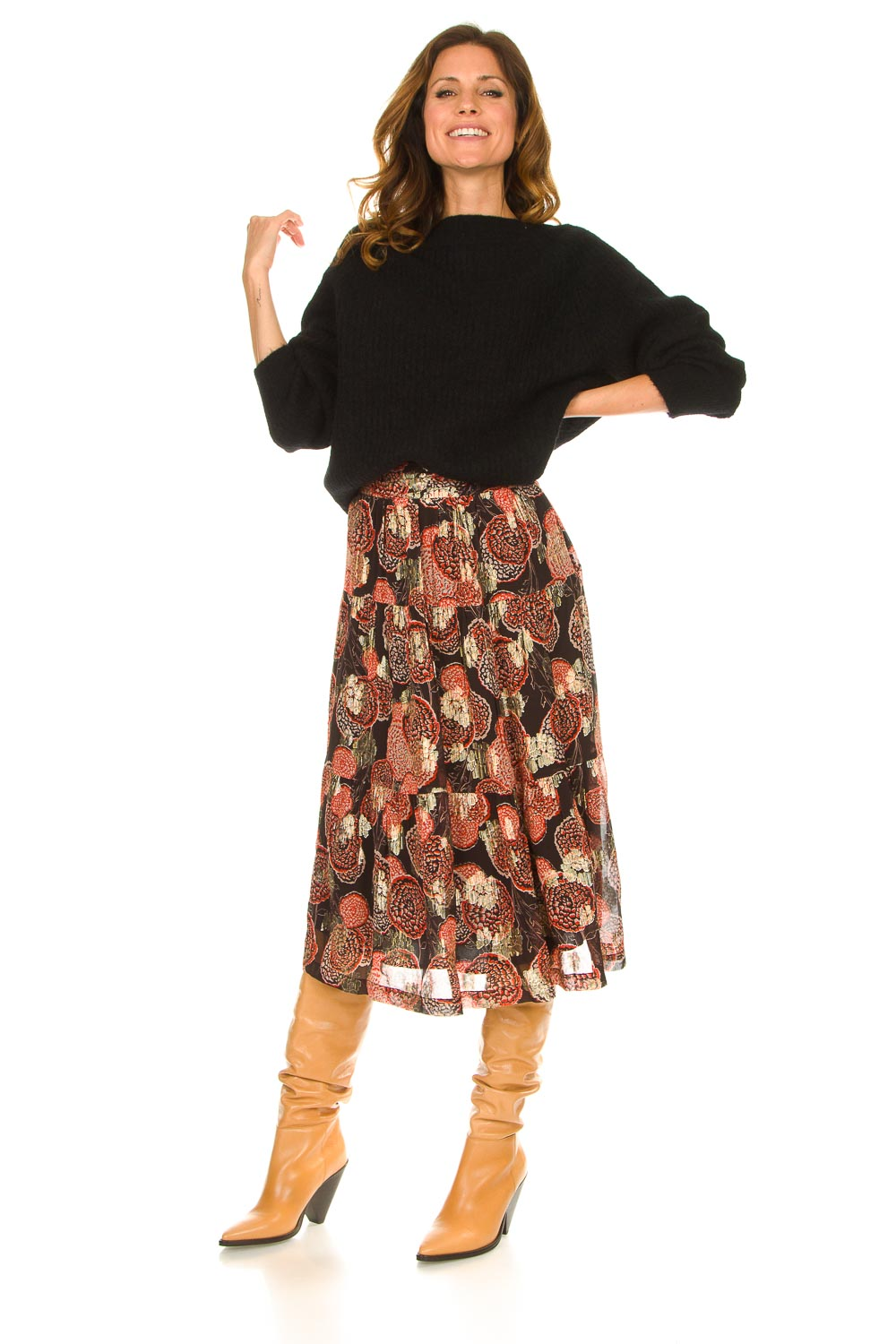 Look Lurex midi skirt Heidi