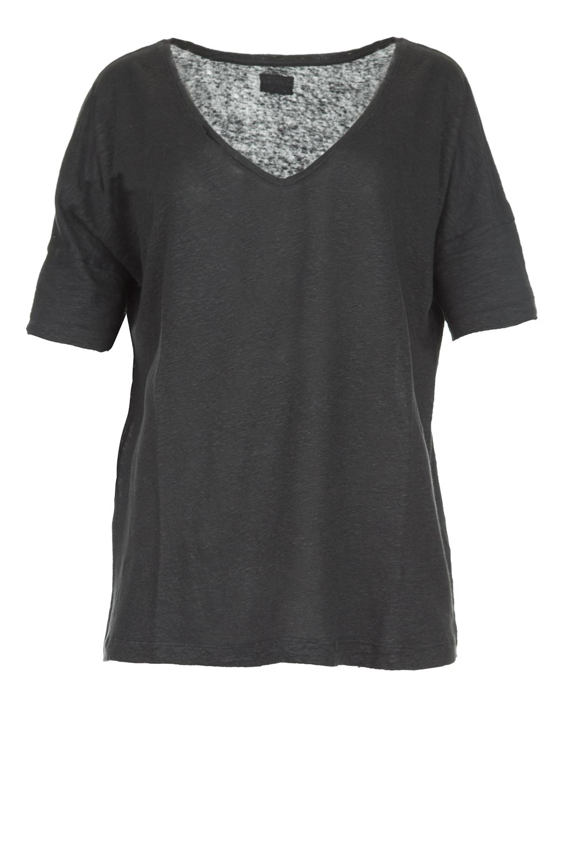 8490ea2d7e7f Blaumax | Linnen T-shirt Nora | grijs | Afbeelding ...
