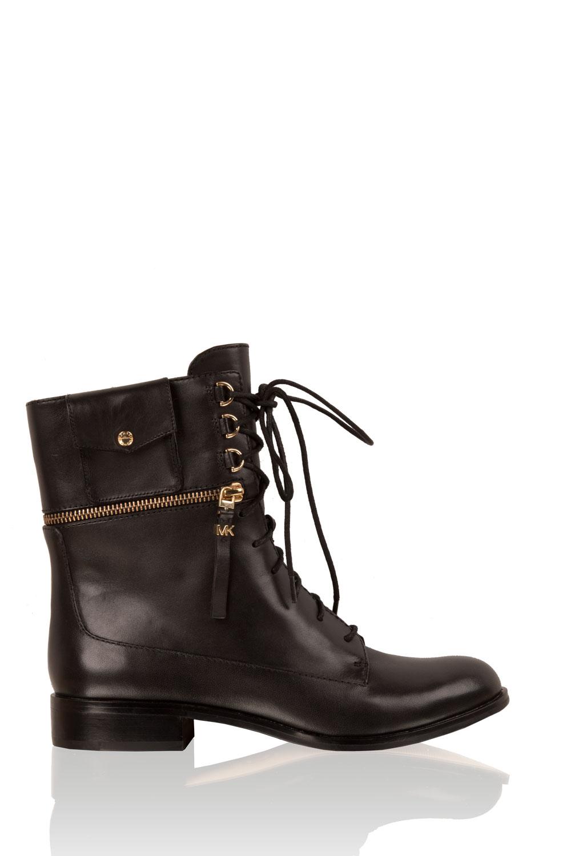 fec62f40eb1 MICHAEL Michael Kors | Leather lace-up boots Zana | black | Picture ...