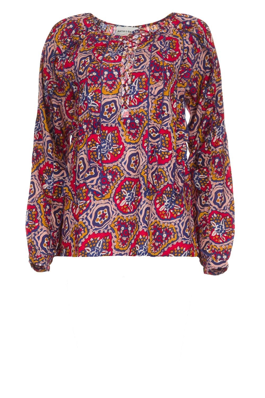 Blouse met print Abbije | roze | Antik Batik | Little Soho