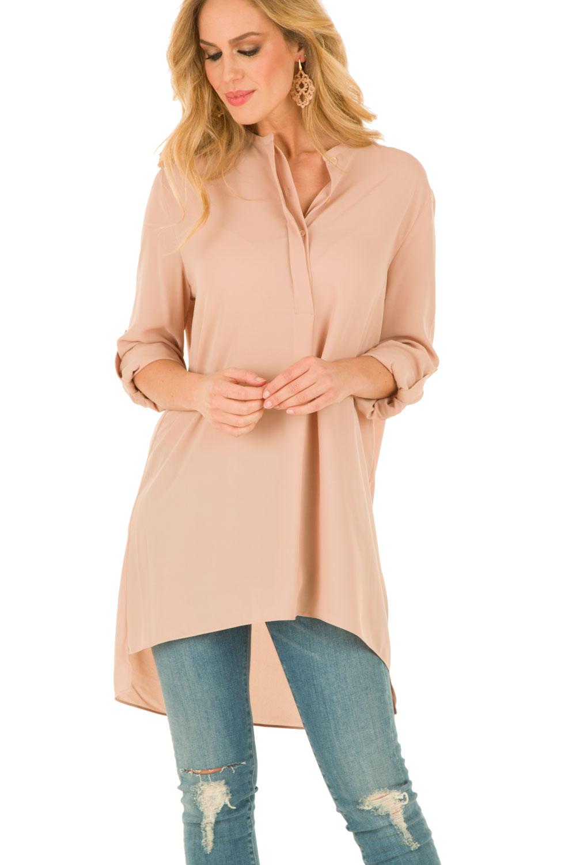 roze tuniek blouse