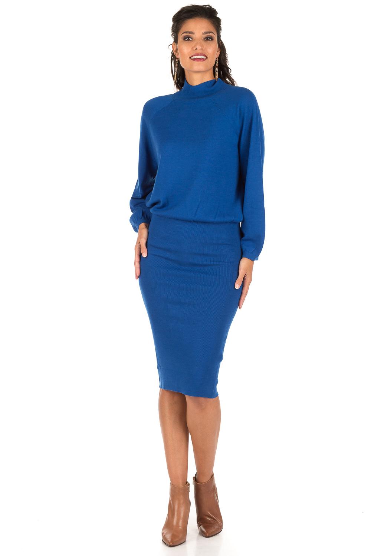 wollen jurk blauw
