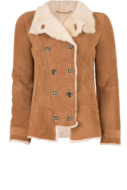 5330030db6 Suede lammy coat Frensi | brown... | Patrizia Pepe | Little Soho