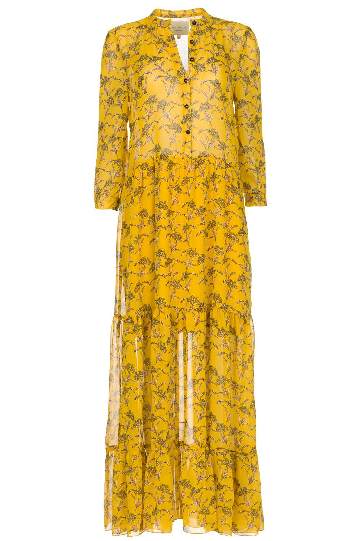 gele maxi jurk