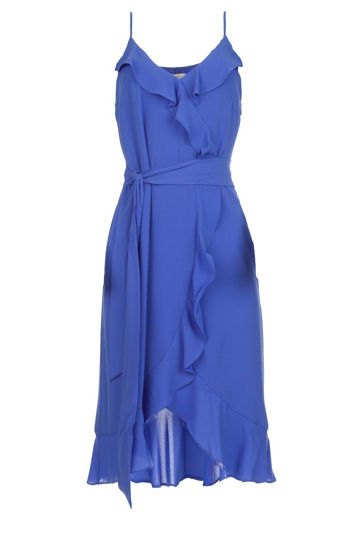 redelijke prijs mode hele collectie Jurk met ruches Ciulo | blauw