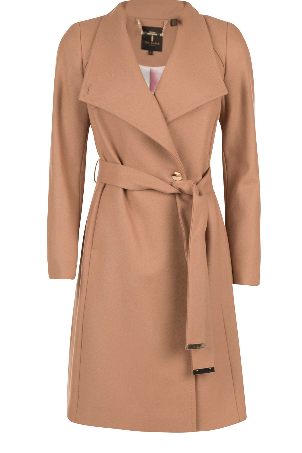 new lifestyle timeless design detailed pictures Woolen trench coat Aurore   camel...   Ted Baker   Little Soho