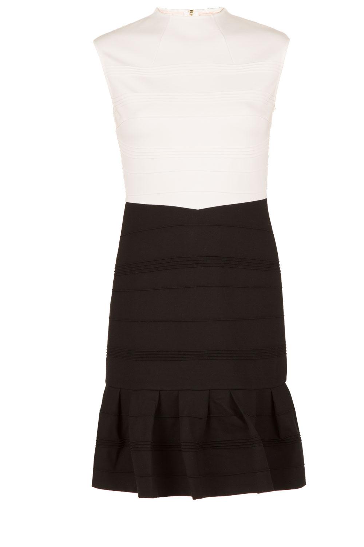 Ted baker jurk zwart wit