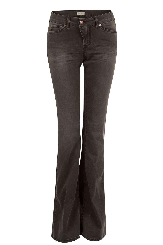 Onwijs Washed 5-pocket flared jeans Liv | black... | Hunkydory | Little Soho RN-85