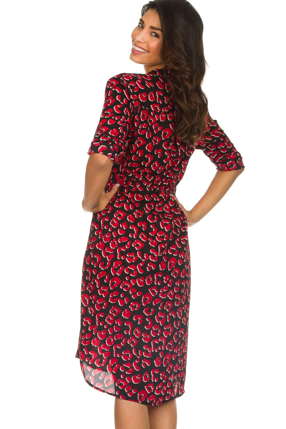 Afbeelding Met Maxi Lolly's Laundry Print Rode French Jurk Panterprint PxH8qwZ