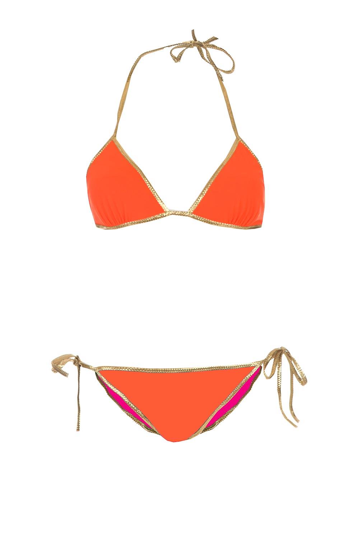 oranje roze bikini