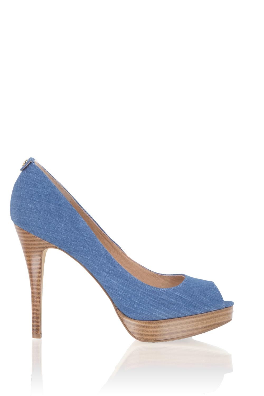 25f6f2c0eee MICHAEL Michael Kors | Denim pump York | blauw | Afbeelding ...