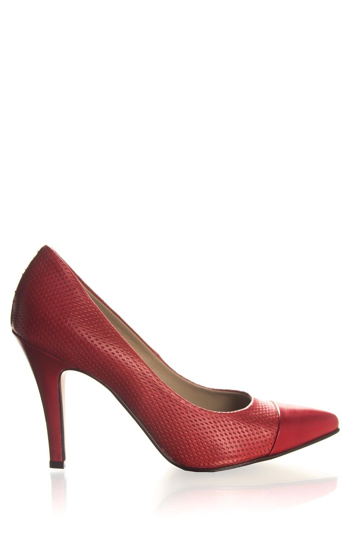 Uitgelezene Leren pumps Nicole | rood | Noe | Little Soho HV-98