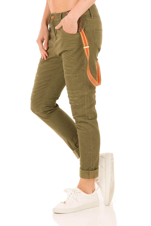 Boyfriend jeans Kate cropped | groen | Manila Grace | Little Soho