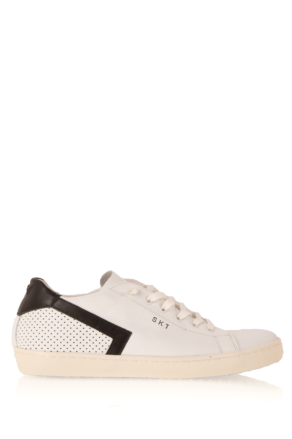 Chaussures En Cuir Couronne Blanche MKrWi845zD