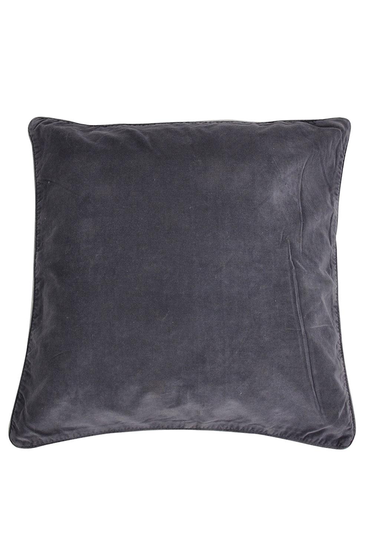 50x50 Velvet cushion cover Adiv   charcoal grey