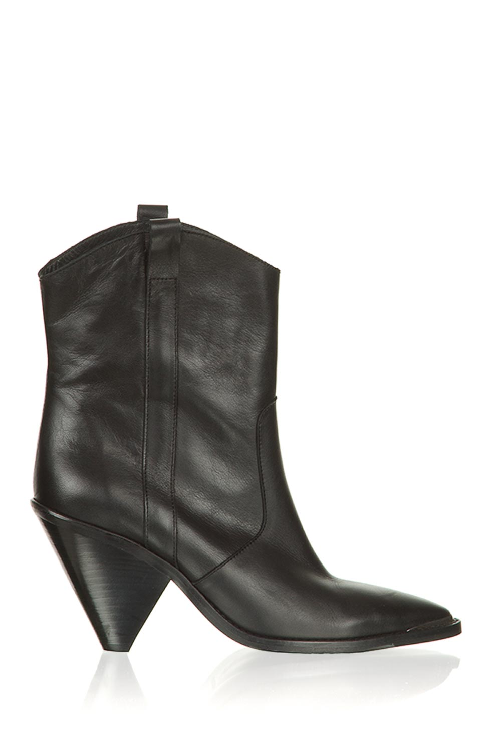 Leather boots with metal cap Elisio | camel