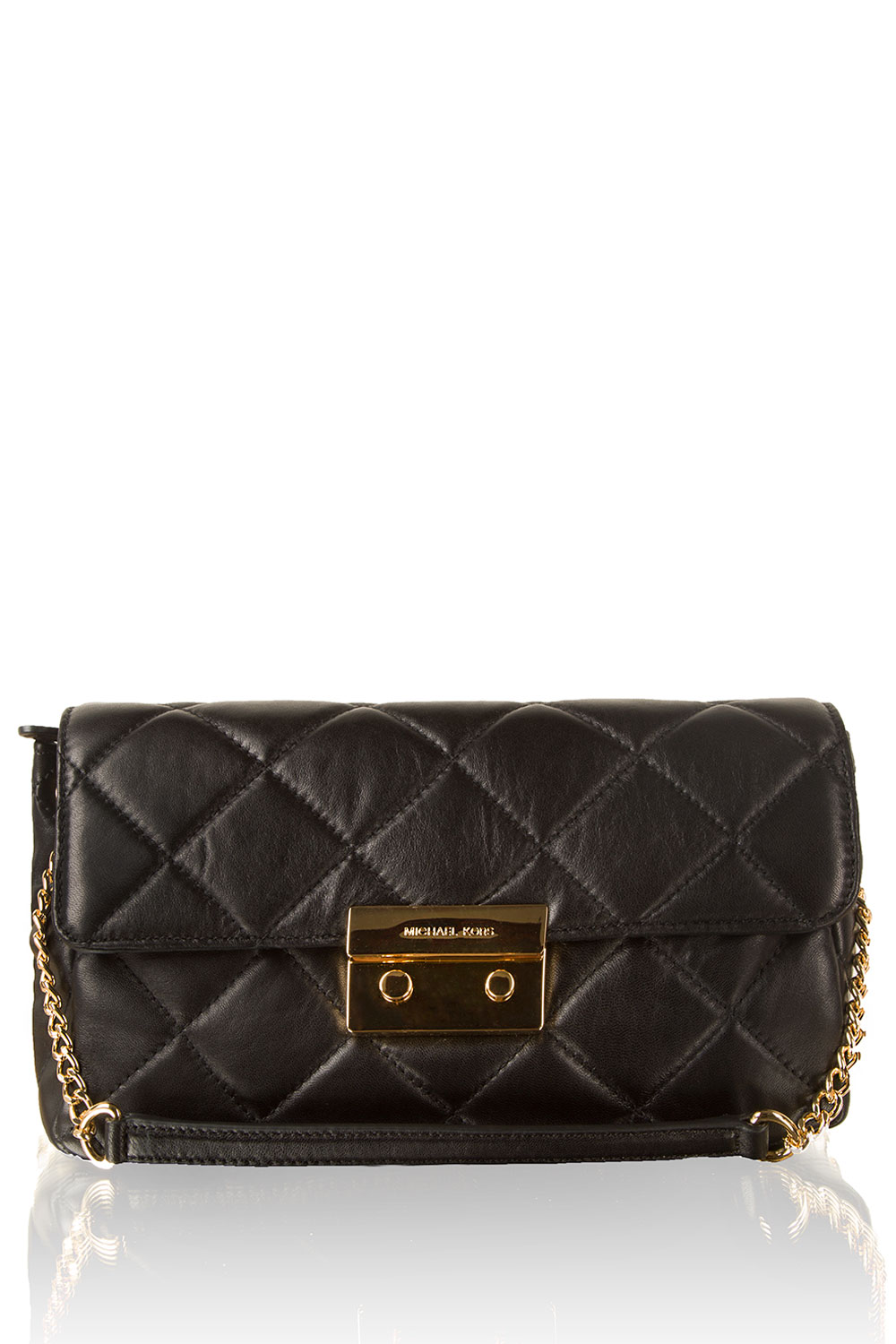 ef6f606671a MICHAEL Michael Kors | Leather shoulder bag Sloan | black | Picture ...