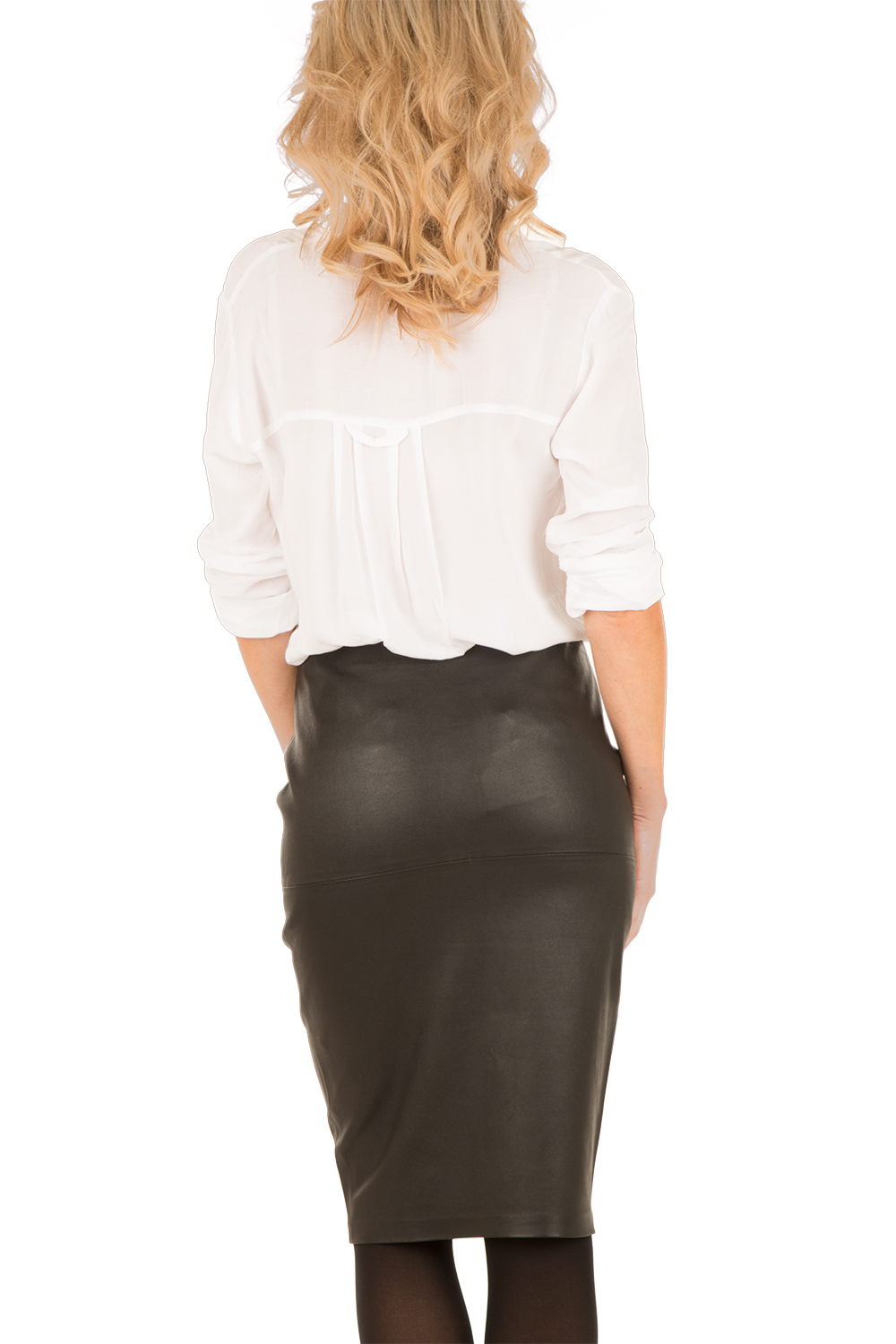 83de7317be ... By Malene Birger   Leather skirt Florida   black   Picture ...