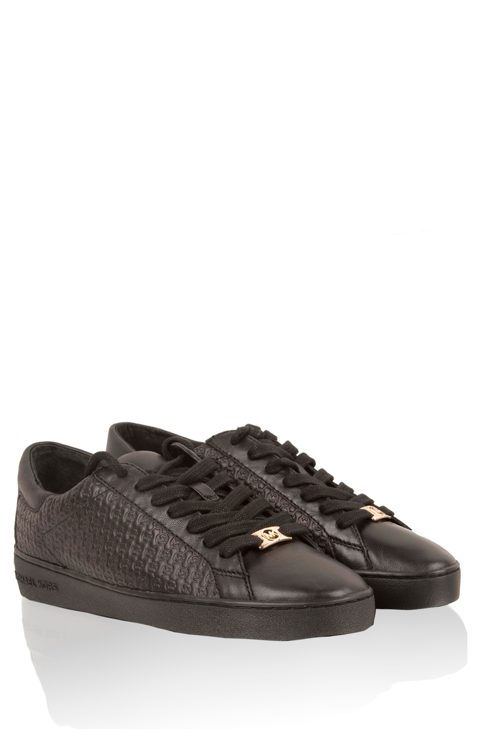 2b0480a2bc3 Leather sneakers Breck | black... | MICHAEL Michael Kors | Little Soho