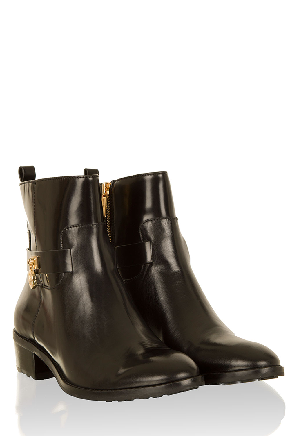 MICHAEL Michael Kors | Leather ankle boots Ryan | black