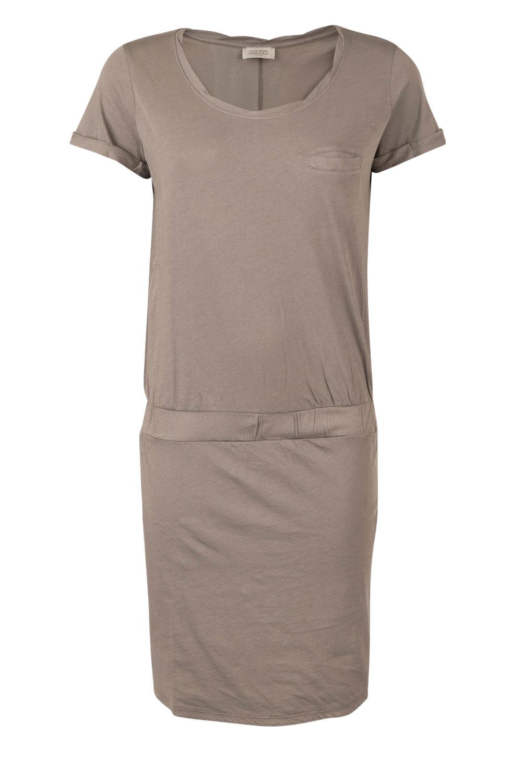 grijze jersey jurk