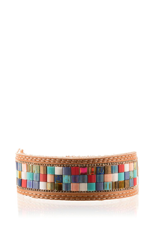 meilleur prix pour Style magnifique mode de premier ordre Leather bracelet Texas | multi