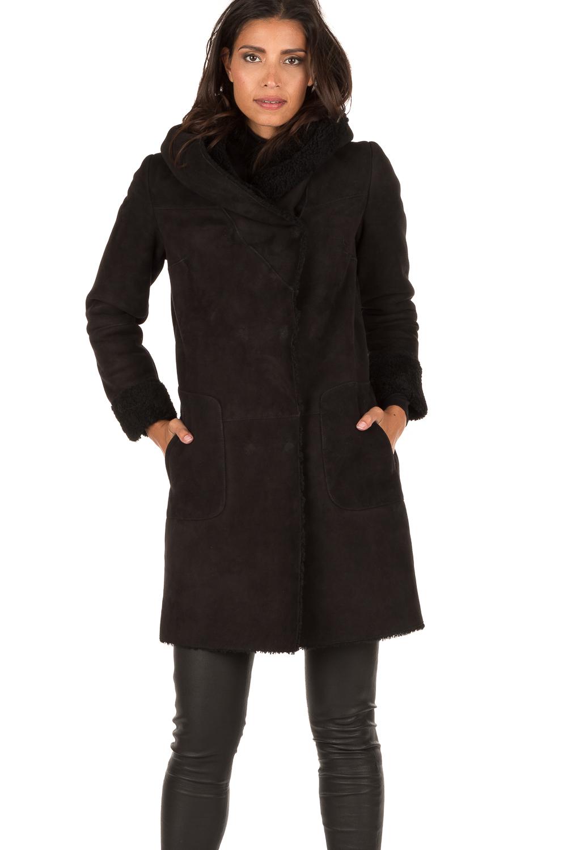 zwarte lammy jas
