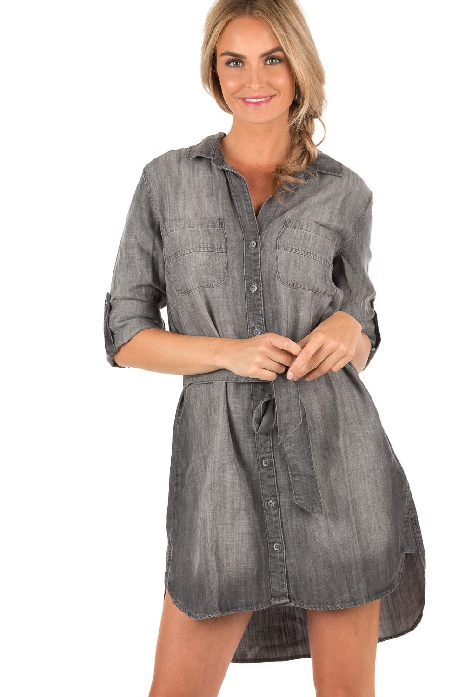 0efb553fa40886 Denim Blouse Dress