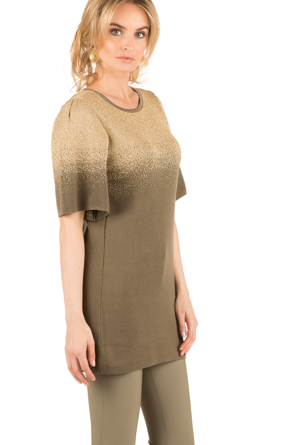 df5ef7a57d7 ... ELISABETTA FRANCHI | Fine knitted tunic dress Jasmine | green | Picture  ...