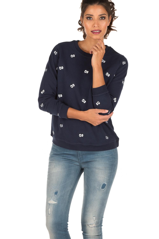 Sweater Eyes All Over | donkerblauw | Zoe Karssen | Little Soho