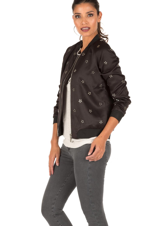 40c726067 Bomber jacket Silver Stars | black